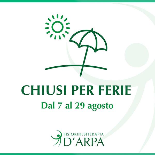 chiusura clinica d arpa estate2021